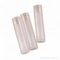 transparent lip balm tube