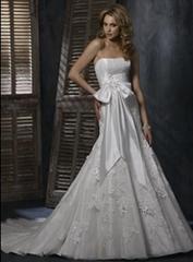 Wholesale 2011 new style A line Taffeta strapless wedding dress