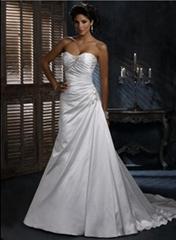 Wholesale 2011 new style A line satin strapless wedding dress