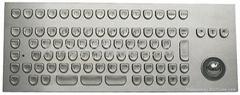 IP65 Industrial Metal Keyboard with Trackball(X-BP86F)