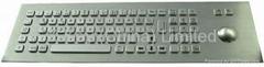 Water Proof kiosk metal Keyboard X-BP81F