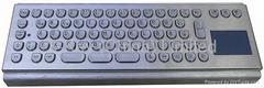 IP65 Anti vandal Metal Keyboard with trackball