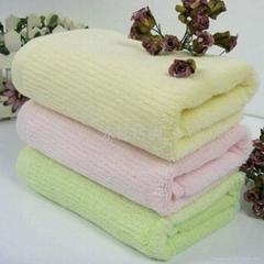 欢静勾条竹纤维毛巾