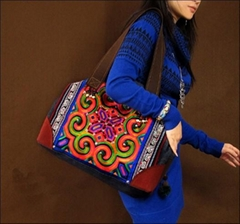 Embroidery handmade bag,tote bag