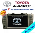 "Large 8"" Toyota Camry DVD with GPS ATV"