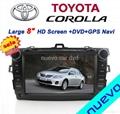 "Large 8"" Toyota corolla DVD with GPS Digital TV(2007-2011) 1"