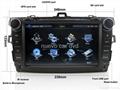 "Large 8"" Toyota corolla DVD with GPS Digital TV(2007-2011) 2"