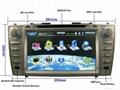 "Large 8"" Toyota Camry DVD with GPS ATV iPod Bluetooth Radio  2"