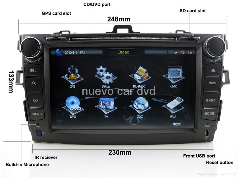 "Large 8"" Toyota Corolla DVD GPS player(2007-2011) 2"