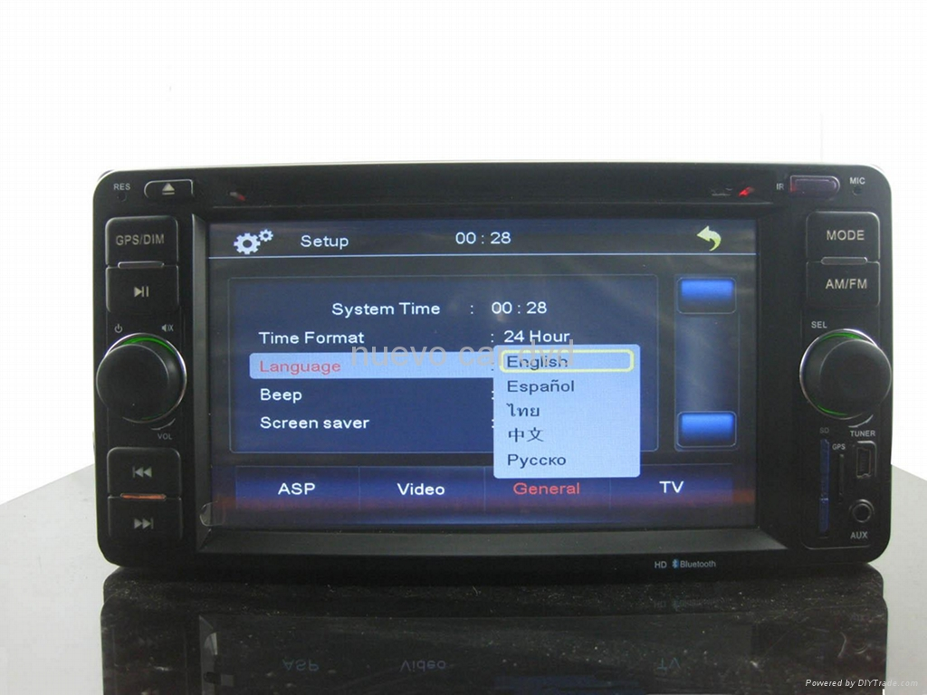 Special Toyota DVD player with GPS/iPod/Bluetooth/800*480 5