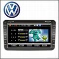 "8"" Car DVD Player with GPS for VW POLO PASSAT GOLF TIGUAN TOURAN CADDY JETTA 1"