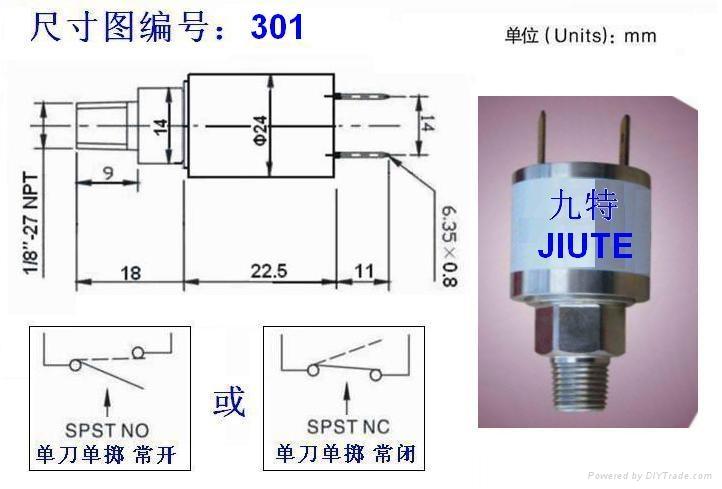 電動汽車真空泵用不鏽鋼真空壓力開關 4