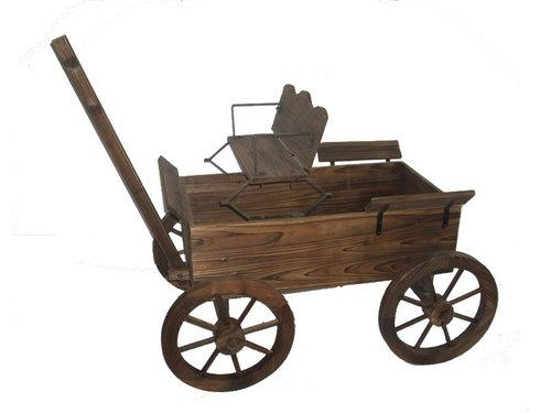 Exceptionnel Wood Garden Wagons, Wagon Planters Wooden 1 ...