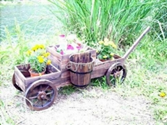 Wooden Garden Planters, Wooden Wagons, Planter Carts