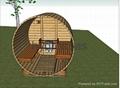 Barrel Shape Sauna Room/ Sauna  SR158 2
