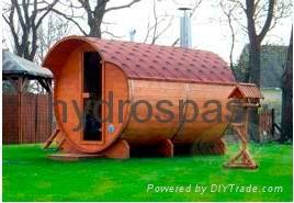 Barrel Shape Sauna Room/ Sauna  SR158 3