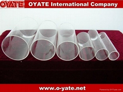 Transparent Quartz Glass Tube