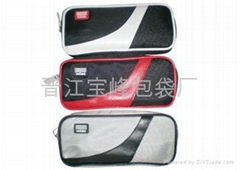 Pencil bag with compartment
