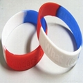 mixture color silicone bracelet