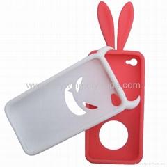 硅胶苹果4代手机套