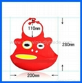 Novely Animal Face Silicone Baby Bibs