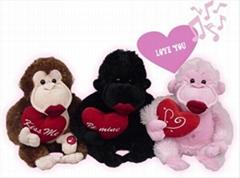 Valentine's gorilla toys