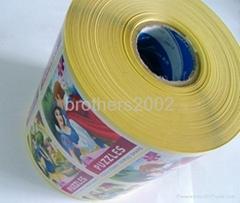 銅版紙迪斯尼卡通卷筒不干膠貼紙