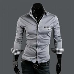 Men's plaid Shirt male long sleeve shirt slim fit shirt pure cotton shirt
