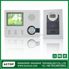 Recording function with 3.5''TFT color video door viewer