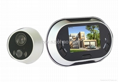 3.5inch digital peephole viewer with take photo+6 langauge