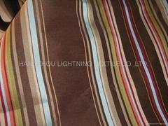 yarn dyed faux silk fabric
