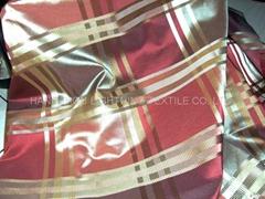 色织涤纶加捻格子窗帘面料