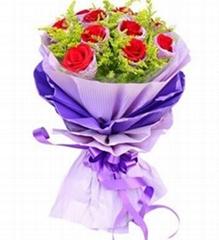 幸福相守11朵红玫瑰花