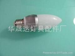 供应3W蜡烛球泡灯外壳