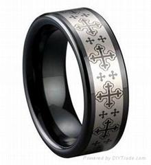 越摸越光滑的鎢鋼戒指