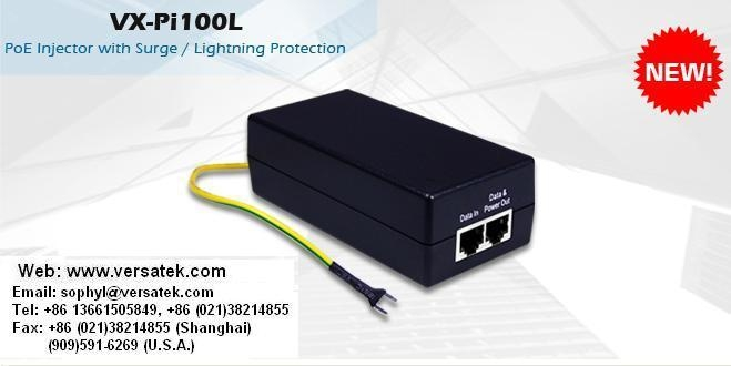 VX-Pi100L PoE Injector w/ Surge Lightning Protection - VX-Pi100L POE