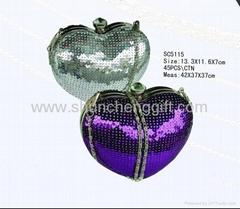 lady bag, handbag, heart image bag, heart clutch
