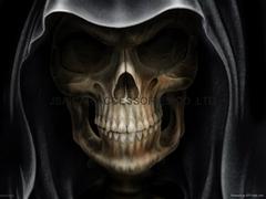 Dead Skull Car Hood Pain