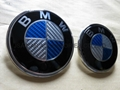blue BMW car logo carbon emblem