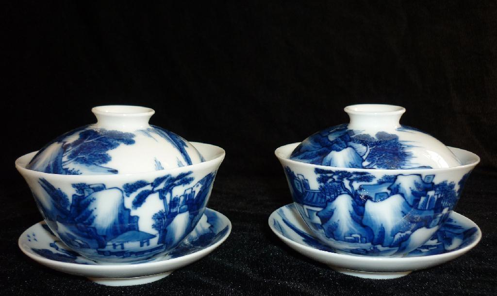 景德镇陶瓷手绘茶盖碗