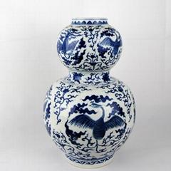 景德镇青花瓷摆件花瓶