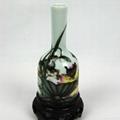 景德鎮粉彩瓷擺件花瓶