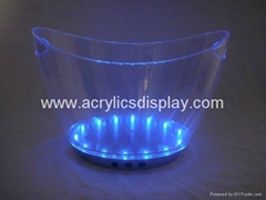 Lucite Acrylic LED ice bucket wine bucket
