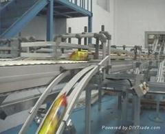Go straight turn mesh belt conveyor