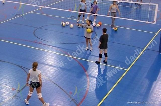 interlocking sports court volleyball flooring 1