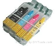 Refillable ink cartridge for Ep C80