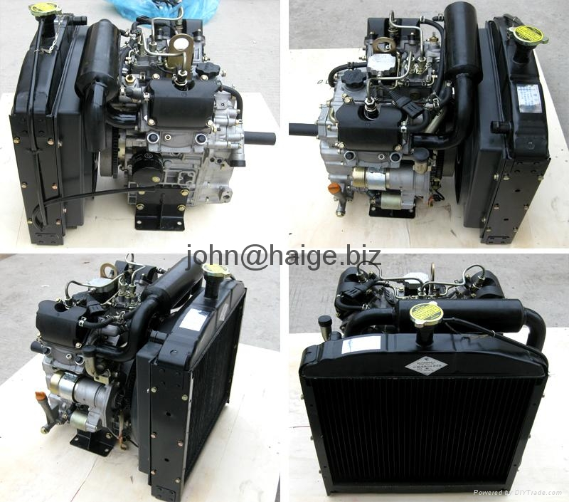 20HP water cooled V-twin 2 cylinder diesel engine 3