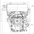 20HP water cooled V-twin 2 cylinder diesel engine 4