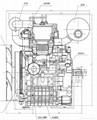 20HP water cooled V-twin 2 cylinder diesel engine 5