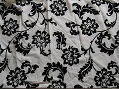 Slubbed Fabric with Flocking